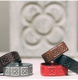 Leather Bracelet Barcelona Tile
