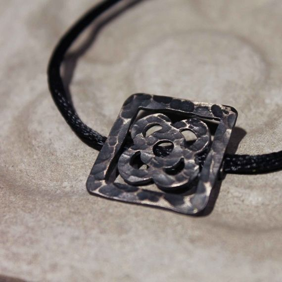 Necklace with a Barcelona tile pendant