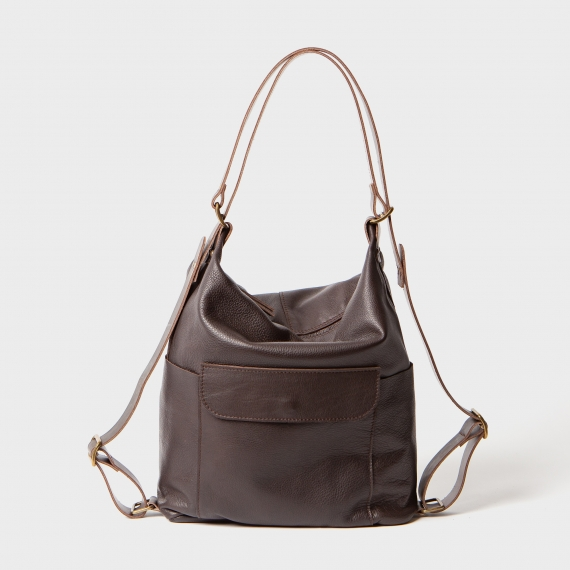 Leather bag and backpack