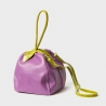 Eggplant leather handbag