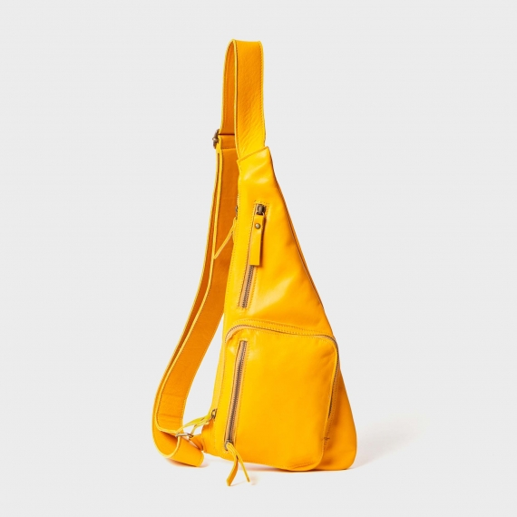 Anti-theft leather backpack