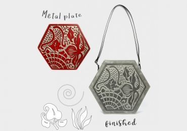The engraving of the designs in our Gaudí bags and backpacks